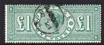 Great Britain One Pound Stamp c1891 Fine Used (S109)