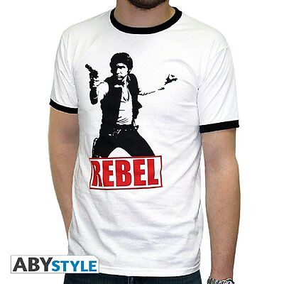 Star Wars T-Shirt: Han Solo Rebel (White) Size XL