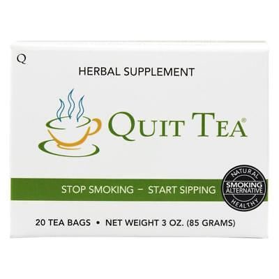 NEW Quit Tea Stop Smoking Aid Tea Bags 20ct Natural Healthy Herbal Supplement
