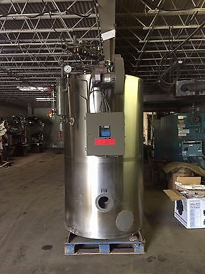 1998 Fulton 30 Hp Steam Boiler Gas Fired 150 psi Stainless steel skin
