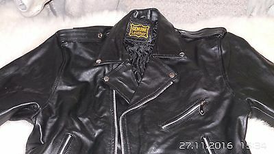 Classic  Real Genuine LeatherJacket Biker Motorcycle Style.  XL- 52 NEW