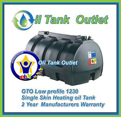 OTO Heating Oil Storage Tank  ~ 1230 ltrs Low Profile  Single Skin