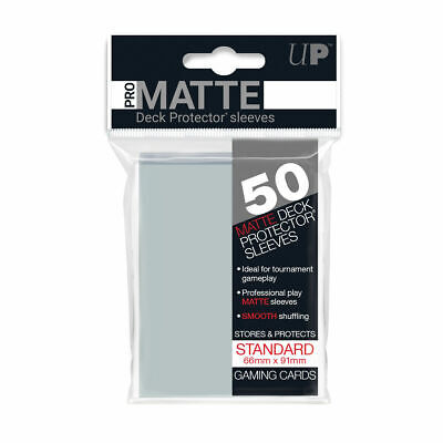 Ultra Pro Deck Protector Pro Matte Sleeves CLEAR for Trading Cards 50 in Pack