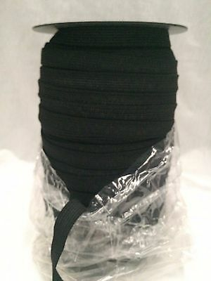 12mm BLACK KNITTED ELASTIC : 125 METRE ROLL : #MD02