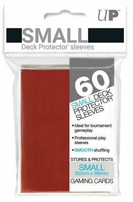 Ultra Pro Deck Protector Small Card Sleeves 60 x RED YuGiOh Vanguard 62 x 89mm