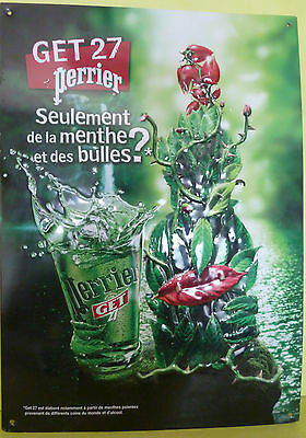 Collector , Tole Publicitaire  Perrier Get 27  , Vpr94
