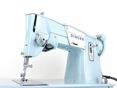 Singer 357K Heavy Duty Metal Zigzag Sewing Machine Denim Clothes Leather
