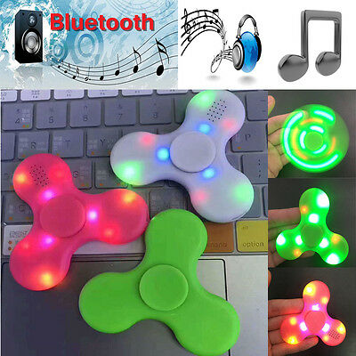LED Bluetooth music Spinner Fidget Glowing Tri Fidget Hand Spinner Toy Anxiety