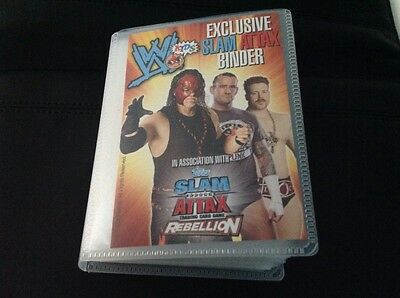 WWE exclusive slam attax binder with 54 cards