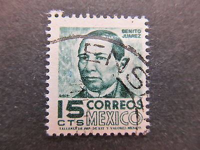 A4P44 Mexico 1954-67 Wmk Mex and Eagle in circle 15c used #87
