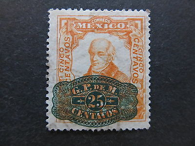 A4P44 Mexico 1916 surch 25c on 5c mh* #8