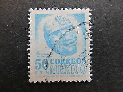 A4P44 Mexico 1954-67 Wmk Mex and Eagle in circle 50c used #93