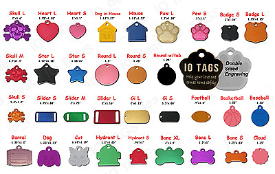 Double Sided Laser Engraved Personalized Pet ID Tag Dog Cat Paw Tag Free Ship