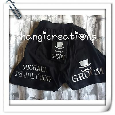 Personalised Groom Socks And Boxer Shorts Set