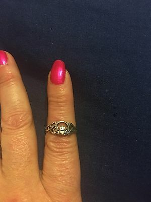 sterling silver claddagh ring size 7