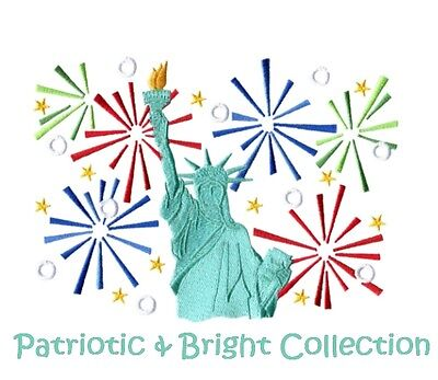 Patriotic & Bright Collection - Machine Embroidery Designs On Cd