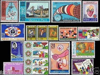 Pakistan Stamps 1972 Year Pack Rcd Blood Donation Nuclear Power Plant