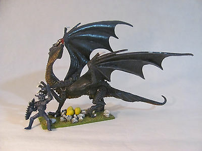 The ANTAGONISTS (10-450) - DRAGON with RIDER - Ral Partha, AD&D, OOP, 28mm scale