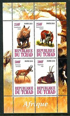 Chad 2010 Wild Animals MS MNH