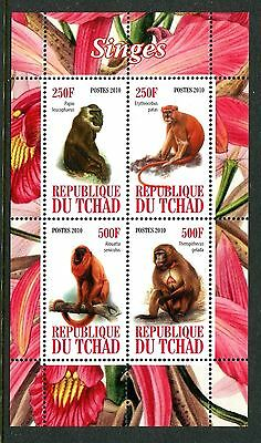 Chad 2010 Monkeys MS MNH