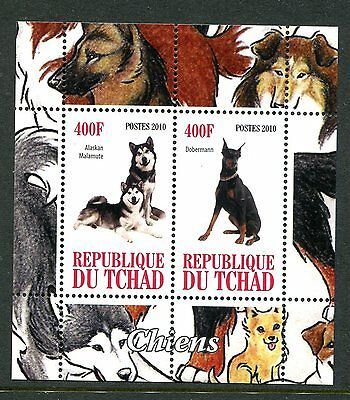 Chad 2010 Dogs II 2v MS  MNH