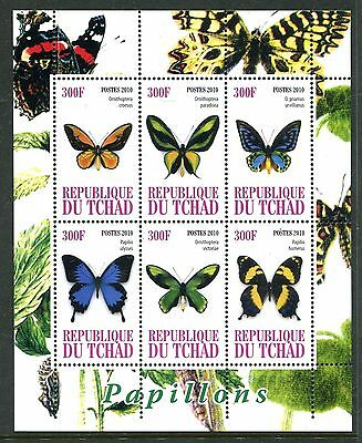 Chad 2010 Butterflies MS MNH