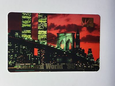 New York City Twin Towers rare phonecard
