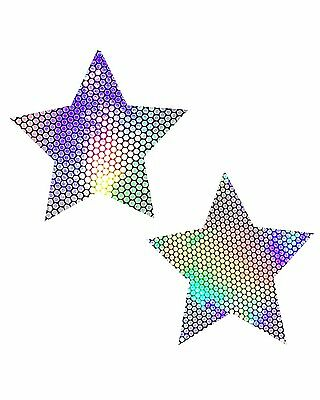 iHeartRaves Liquid Party Hologram Star Rave Pasties