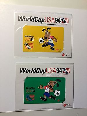 World Cup Soccer two rare phonecards 1994