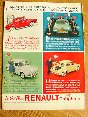 1960 Renault Dauphine Ad   Le Car Hot  How to make your Driving Fun Again