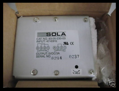 Sola Power Supply 83-05-230-03 5 vdc 3 a