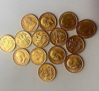 One Gold George V Or Victoria Old Head Half Sovereign Coin For Investment
