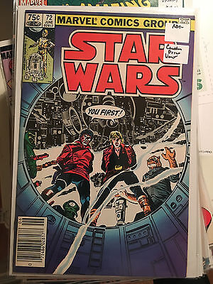 STAR WARS #72 NM- 1st Print CANADIAN PRICE VARIANT Marvel Luke Skywalker 75 cent