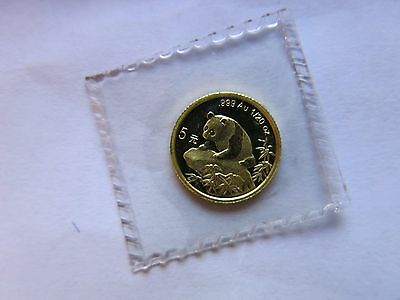1999 1/20 Gold Panda Small Date 5 Yuan Sealed China Chinese Coin