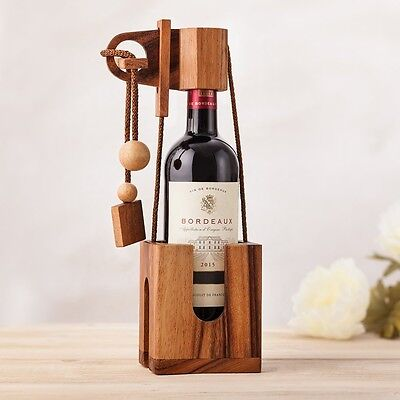 """Wine Accessory """"Don't Break The Bottle"""" - A Wooden Puzzle 