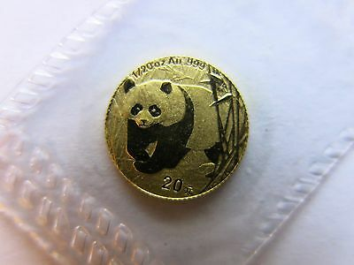 2001 1/20 Gold Panda 20 Yuan Sealed China Chinese Coin