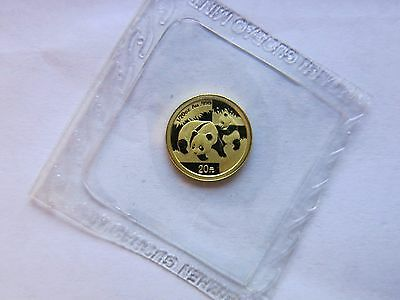 2008 1/20 Gold Panda 20 Yuan Sealed China Chinese Coin