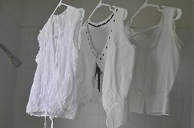 vintage antique victorian white tops, two antique one vintage.