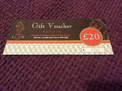 £20 Gift Voucher For LUKE store