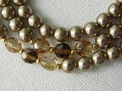 Vintage NAPIER Faux Champagne Pearls and Faux Citrine Necklace