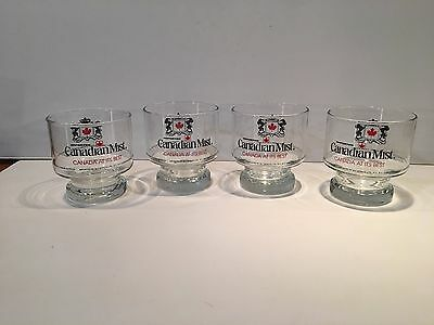 Four (4) Canadian Mist Whiskey Glasses - Canada At Its Best
