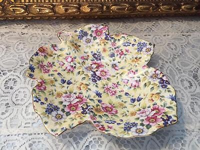 Beautiful Chintz Collection By Royal Garden Leave Appetizer Plate Candy Dish