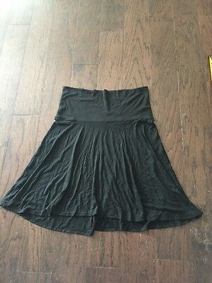 Old Navy Maternity L Over Belly Black Stretchy Skirt A10