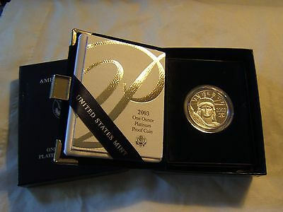 2003 W $100 1 oz proof Platinum Eagle with US Mint packaging