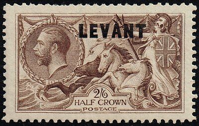 British Levant 1921 sea horses 2s.6d. chocolate-brown, MH (SG#L24)