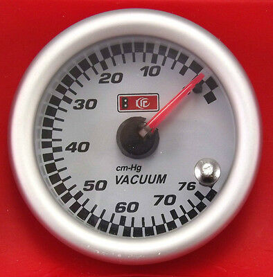 53mm 2.3/32'' Vacuum Gauge with Optional 7 LED Colour Change Function