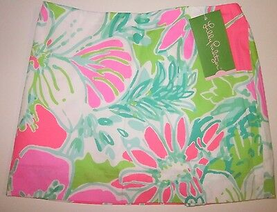 LILLY PULITZER Mini Jasmine Skort DON'T GIVE A CLUCK Flamingo Pink NWT Skirt 12