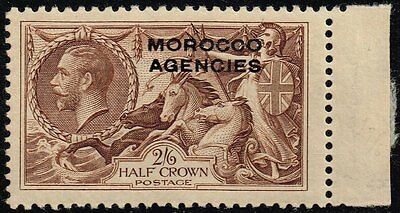 Morocco 1914-31 sea horses 2s.6d. chocolate-brown, MNH (SG#53)