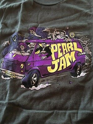 Pearl Jam Mystery Machine Scooby Doo 2014 Halloween Shirt Size L New