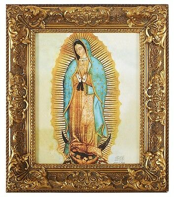 Ornate Our Lady of Guadalupe Print In frame Catholic Virgin Mary Art
